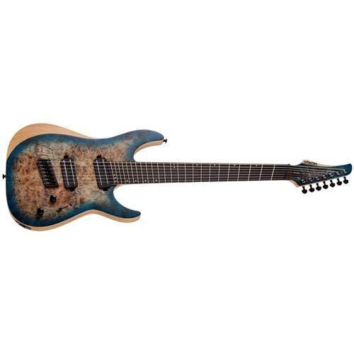 Schecter Reaper-7 Multiscale - Satin Sky Burst (9 String Guitar Schecter)
