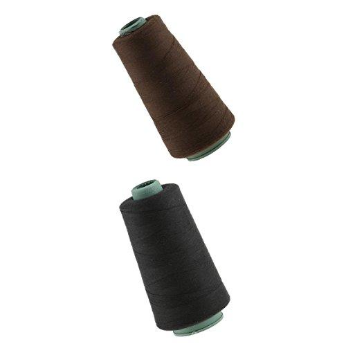 Perfk 2個 髪 かつら 髪拡張 装飾 縫製 織物 糸 スプール