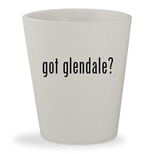got glendale? - White Ceramic 1.5oz Shot Glass