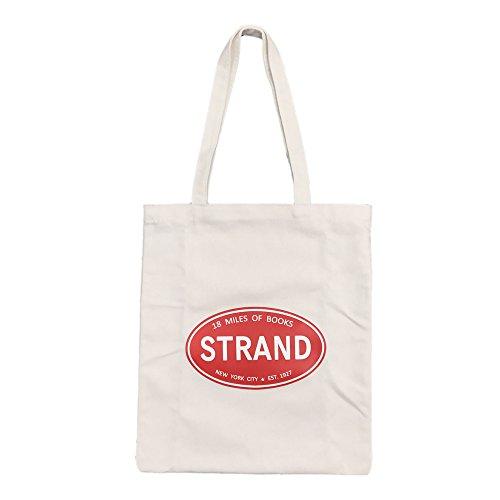 Do4U Canvas Tote Bag For Women Bonus Zipper Makeup Bag Canvas Beach Shoulder Hand Bag, Perfect for Shopping, Laptop, School Books (Strand(White)) (Bag Strand)
