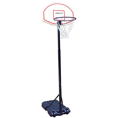 Cirocco Portable Outdoor Indoor 6.7 Ft Basketball Goal Hoop Stand Alone System Kit Set w/ Wheel – Height Adjustable Standard High Performance Pro Court Strong for Driveway Home House Kid Junior Senior