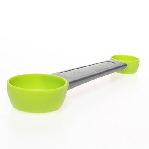 Zeal Lime Green 4 in 1 Double Sided Teaspoon Tablespoon Kitchen Measuring Spoon (Measuring 1 4in Spoon)