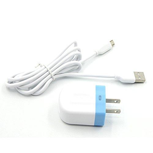 YOMYM 1.2A Cable USB y Cargador Cargador de Pared Universal Portátil Para iPhone, HuaWei, HTC, LG y Más, Blanco …