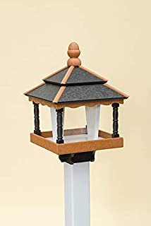 product image for DutchCrafters Square Bird Feeder (with Walls, Black/Cedar/White)