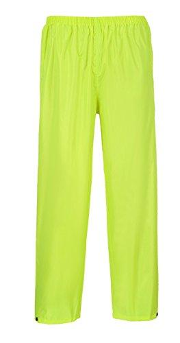 Safety Rainwear - Portwest S441 Rainwear Men's Waterproof Rain Pants, Yellow, 4X-Large