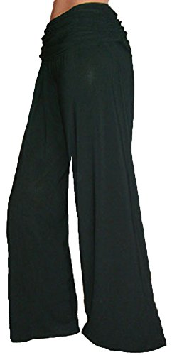 Funfash Gaucho Flare Long Black Palazzo Pants New Women's Pants Size Large 9 11 by Funfash
