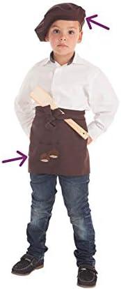 Disfraces Llopis Kit de Castañero para niño: Delantal y Boina ...