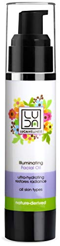 (Luca Wellness Illuminating Facial Oil - Creates a Glowing, Luminous Complexion. With Naturally Derived Extracts, Botanicals & Oils. Evening Primrose, Avocado & Olive Oil Nourish &)