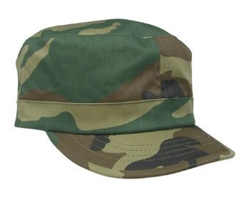 Woodland Camouflage Adjustable Womens Fatigue Cap