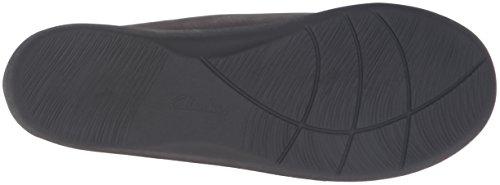 CLARKS Womens Sillian Greer Slip-On Loafer Pewter Metallic Synthetic Nubuck KF4U5E9JEH
