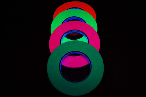 4 Pack Half Inch UV Blacklight Reactive Fluorescent Gaffer Tape 4 x 45 Yards