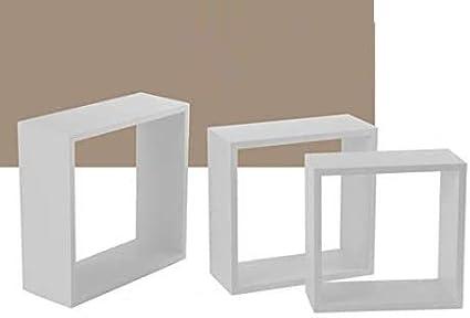 Giardicasa 3 baldas rectangulares cubo H 30-27-24 estantería ...
