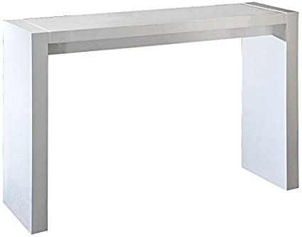 Studio 55D Velia High Gloss White Contemporary Bar Table