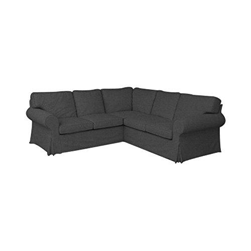 tlyesd Ektorp 2 + 2ソファーカバー交換用cutomoized IKEA Ektorp 4 Seat Sectional Slipcover  ダークグレー B07DK1WW11