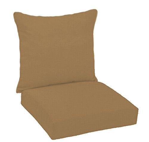 FiberBuilt Umbrellas D0301SB-48083 Hinged Deep Seating Chair Cushion Patio and Lawn Furniture with Sunbrella Fabric, Carribou