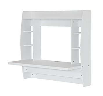 escritorio de pared xxcm estante de suspension estanteria madera blanca