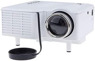プロジェクタ ミニポータブルLEDプロジェクター48のルーメン320 X 240解像度16:自宅やオフィスのために9アスペクト比 ーカー ホームシアター 天井投影 (Color : White, Size : One size)