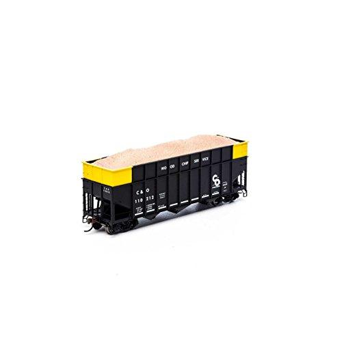 Ho RTR 40` Wood Chip Hopper w / Load   C & O # 110212