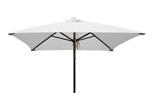 Heininger 1235 DestinationGear 6.5' Square Natural Classic Wood Patio (6 Foot Square Patio Umbrella)