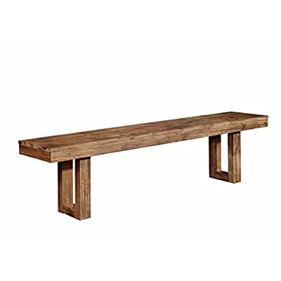 Coaster Furniture 105543 Elmwood Dining Bench Weathered Wood Finish