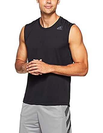 adidas Men's CX0195 Climacool Sleeveless Tank, Black, Small