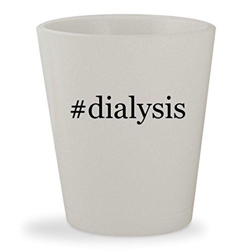 #dialysis - White Hashtag Ceramic 1.5oz Shot Glass