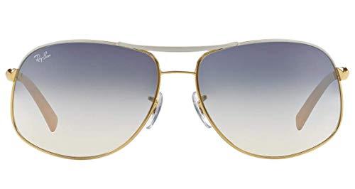 a22a9a6dcf Ray-Ban RB3387 - 077 7B Sunglasses Gold White w  Blue Silver ...
