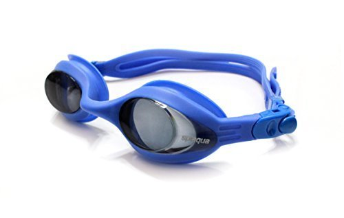 Splaqua Prescription Corrective Optical Swim Goggles - Anti-Fog UV Protection, Stylish, Durable, Goggles Blue Tinted ()