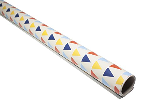 Long gift wrapping paper 1 roll - Suitable for all occasion gift wrap like wedding, birthday, and holiday - 27.5 inch x 16.4 feet (37.5 sq ft.).