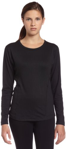 Duofold Women's Mid-Weight Single-Layer Thermal, Black, Small