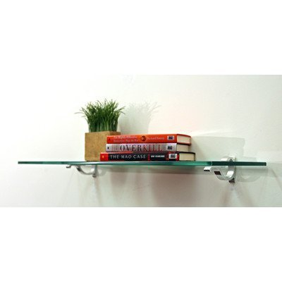 "Price comparison product image Floating Glass Bathroom Shelf Finish: White,  Size: 36"" W x 8"" D by Spancraft Glass"