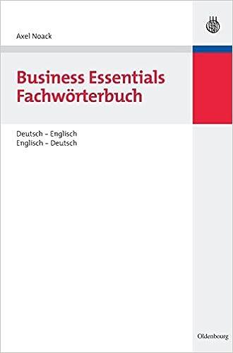 business essentials fachwrterbuch deutsch englisch englisch deutsch amazonde axel noack bcher - Lebenslauf Englisch Bersetzung