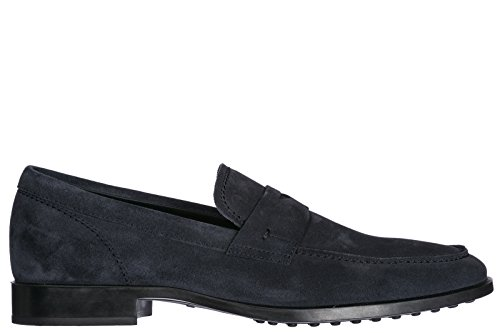 Tods Wildleder Mokassins Herren Slipper Blu