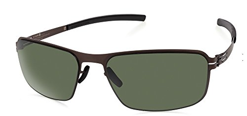 IC Berlin Black Body Sunglasses Teak/Black/Green - Ic Sunglasses Berlin