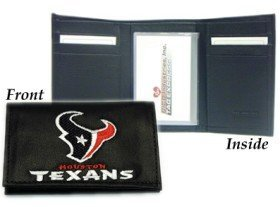 Houston Texans Embroidered Leather Tri-Fold Wallet by - Texans Embroidered Leather Houston