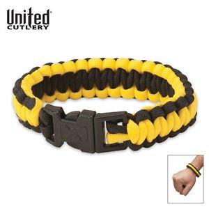 ELITE FORCES M48 Paracord Survival Bracelet Safety Yellow & Black