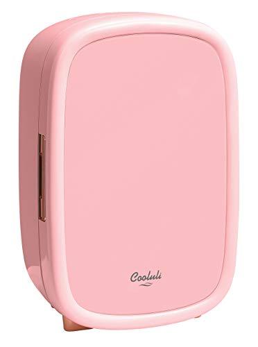 Cooluli Beauty Pink 12-liter Skincare Fridge for Makeup Storage, Esthetician Supplies, Skin care Tools, Cosmetics – Womens, Teens Cute Mini Beauty Fridge & Organizer
