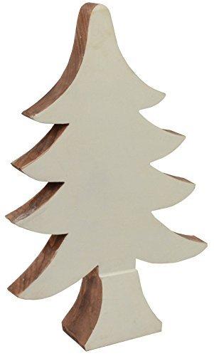 Deko Tannenbaum Holz.Chiccie Mangoholz Weihnachtsbaum Holz Rand 41cm