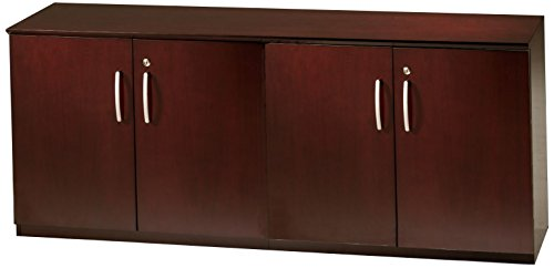Mayline VLCWCRY Napoli Low Wall Cabinet with Wood Doors, Sierra Cherry (Corsica Low Wall Cabinet)