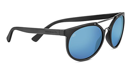Serengeti 8354 Lerici Polarized 555NM Sunglasses, Sanded Gray/Satin Dark Gun