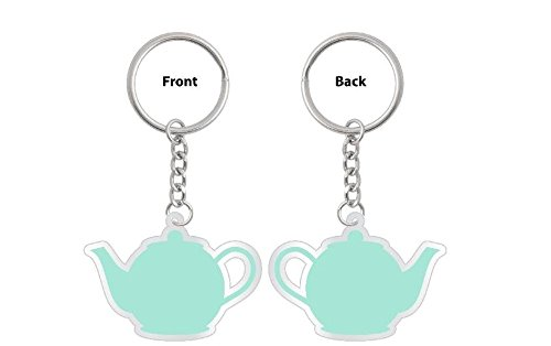 CoolTVProps Pam and Jim Teapot Keychain The Office US Version The Office TV Show Merchandise The Office TV Show Keychain