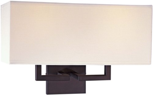 (George Kovacs P472-617, Wall Sconce Lighting with Shades, 2 Light, 120 Total Watts, Bronze)