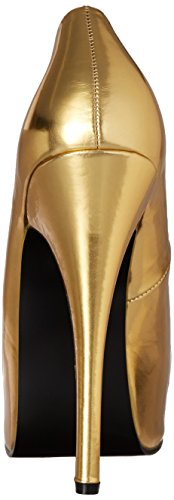 Bordello TEEZE-07 Gold Met Pu Size UK 3 EU 36