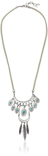 Lucky Brand Turquoise Tribal Pendant Necklace, 24