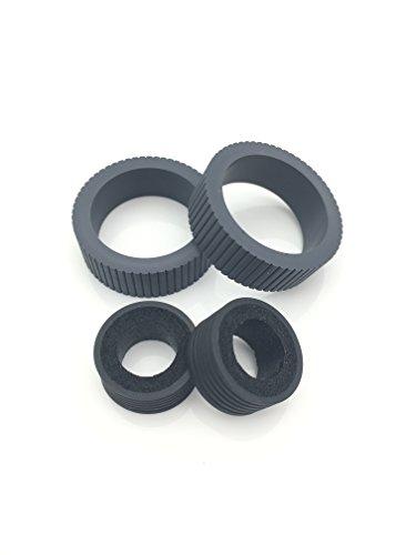 OKLILI PA03670-0001 PA03670-0002 Consumable Kit Pick Roller + Brake Roller Pickup Roller Tire Rubber for Fujitsu fi-7160 fi-7260 fi-7140 fi-7240 fi-7180 (Printer Pick Roller Kit)
