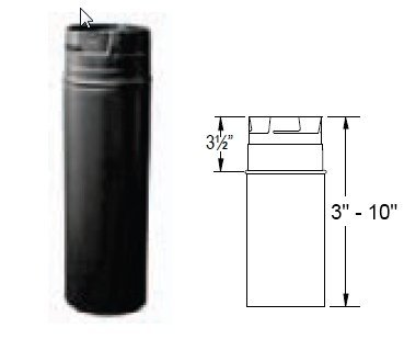 170304 4''x 12'' Adjustable Length Pellet Vent