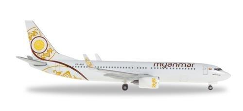 Herpa Wings 530538 Myanmar National Airlines Boeing 737-800 1/500 Scale Model
