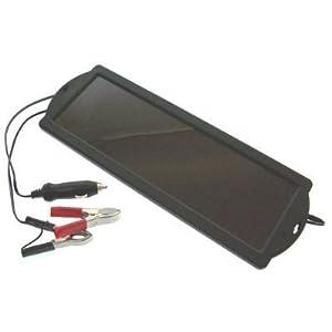 Chargeur d'entretien à l'énergie solaire pour maintien de la charge d'une batterie 12V - idéal pour les voitures, camping-cars, bateaux – 1,5 watts