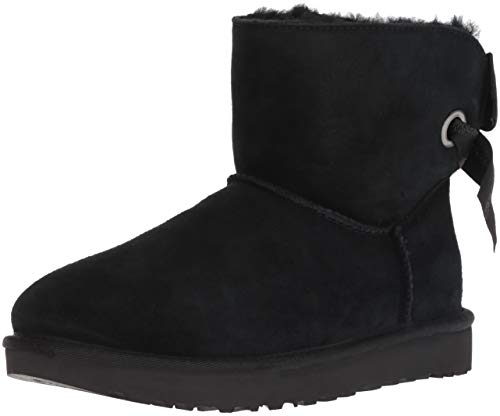 UGG Women's W Customizable Bailey Bow Mini Fashion Boot, Black, 7 M US