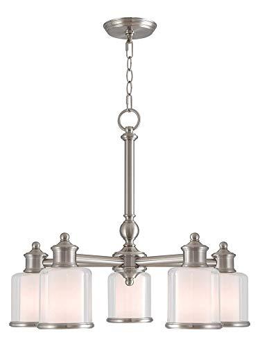 Livex Lighting 40204-91 Middlebush 5 Light BN Dinette Chandelier, Brushed Nickel